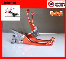 KTM 250 450 505 500  coppia LEVE ANTIROTTURA FRENO FRIZIONE pieghevoli arancione
