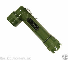 US Army Style C Cell Small Right Angle Military Torch / Flashlight with filters