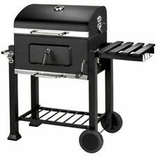 Bbq Grill Barbecue Charbon de bois Fumoir Barbecue Rond avec Couvercles et roues