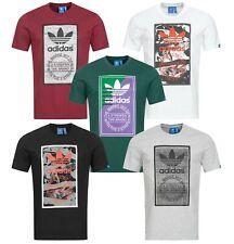Adidas T-Shirt Herren Shirt New TONGUE LABEL Graphic Tee Shirts   NEU