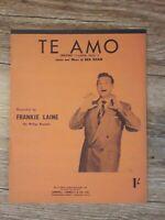 Te Amo (I LoveYou) - Frankie Laine (1953 vintage music sheet