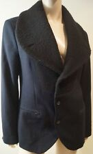 TIGER of Sweden Menswear Midnight Blu Nero Sovradimensionato Colletto Blazer Jacket Sz48