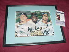 WILLIE MAYS &DUKE SNIDER signed AUTO matted/framed BASEBALL PHOTO  JSA w/ MANTLE