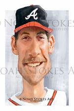 John Smoltz Atlanta Braves Sports Art Print by Noah Stokes