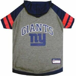 Pet's First New York Giants NFL  Officially Licensed Pet Hoodie Tee Dogs & Cats