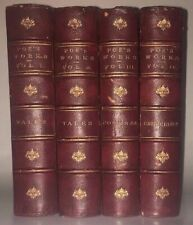 LEATHER Set; WORKS OF EDGAR ALLAN POE! (Printed in 1874!) COMPLETE First Edition