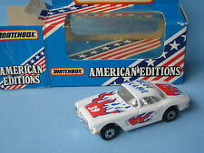 Matchbox 1962 Chevy Corvette Blue Flame Classic USA Car Toy Model 75mm