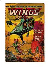 """WINGS COMICS #124   [1954 GD-]  """"DEATH BELOW ZERO""""  LAST ISSUE!"""