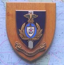 Old Trinidad & Tobago Guardia Costiera per Master MARITTIMI NAVE STEMMA SCUDO TARGA