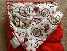 Pottery Barn Teen Dr. Seuss Grinch Sleeping Bag Red/White New No Monogram