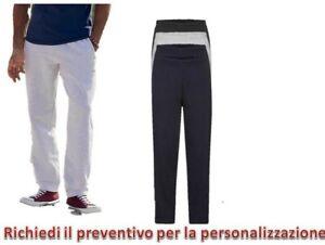 Pantalone Tuta Uomo Felpato Uomo Sportivo Fitness Fruit Of The Loom fondo largo