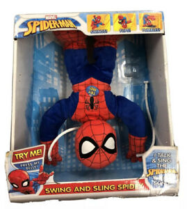 MARVEL Swing Sling Spidey Talking Spiderman Comic WORKS In Box RARE MAKE OFFER