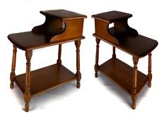 Heywood Wakefield Side Step End Table 2-Tier Mid-Century Vintage Solid Wood
