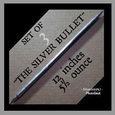"""(3)""""SILVER BULLET"""" HANDMADE STEEL NINJA DOUBLE SPEAR TIP TORPEDO THROWING  SPIKE"""