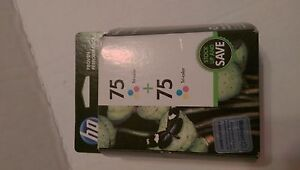HP 75 TRI COLOR TWIN Pack EXPIRED JUN 2014 NEW and FACTORY SEALED,FREE SHIP.