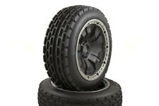 Dirt Buster Buggy Wheels Black Poison Rims Front Pair 170x60 HPI Baja KM 1/5