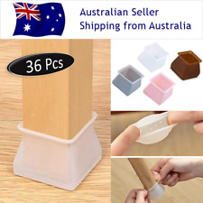 36Pcs SQUARE Silicon Furniture Leg Protection Case Cover Table Chair Feet Pad