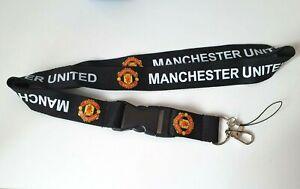Manchester United FC Lanyard ID I.D Detachable Keyring & Phone Dongle