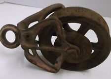 """ANTIQUE CAST IRON PULLEY 6"""" PULLEY RUSTIC FARM BARN TOOL, CABIN DECOR"""