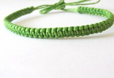 BRACELET GREEN COTTON CORD HEMP FRIENDSHIP ADJUST ANKLET WRIST BAND MEN WOMEN