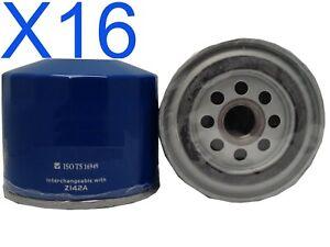 16X Oil Filter fits Z142 MITSUBISHICOLT RD 4G33B1.4L 4CYL Pet 1986-88