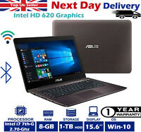 "ASUS X556U 15.6"" Laptop Intel Core i7 7th-Gen 2.70Ghz 8GB RAM 1TB HDD Windows 10"
