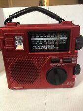 Eton LL Bean FR-200 Emergency Radio Battery Crank Red SW/AM/FM Flashlight
