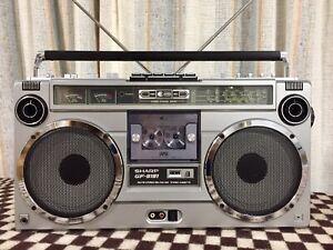 Classic Vintage 1980s Sharp GF-9191 Radio Cassette Boombox Ghetto Blaster Works!