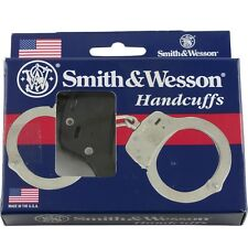 Smith & Wesson S&W Nickel Blued Black Finish Handcuffs 2 Keys Model 100