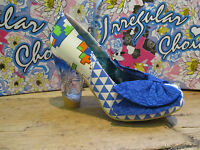 Irregular Choice Bowtina Trinkletina Blue White Bow Detail Glass Heel Shoe