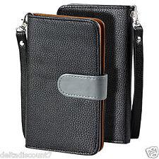 SOJITEK - Samsung Galaxy Note Edge SM-N915 PU Leather Wallet Flip Case (Black)