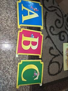 Vintage Sesame Street ABC Interlocking Board Book: Letters A B C