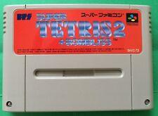 TETRIS2+BOMBLISS Nintendo Super Famicom Japanese SNES SFC FREE Shipping USED