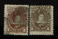 Newfoundland SC# 41 & 42 Used / Mint No Gum - S8270