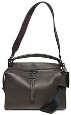 NWT Botkier Woman's Leather Hobo Cross Body, Brown Leather/Purple Suede $238.00