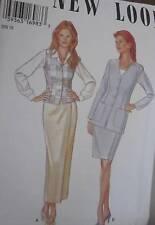 6405 Vintage NEW LOOK SEWING Pattern Misses 3-Pc Suit Jacket Skirt 8-18 UNCUT FF