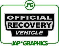 Land Rover Oficial vehículo de recuperación Negro & Plateado etiqueta engomada de la etiqueta de envío gratis