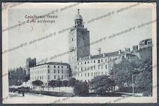 TREVISO CASTELFRANCO VENETO 12 OROLOGIO Cartolina viaggiata 1917