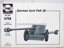 Planet Models German 5cm PaK 38 1:72 Resin MV089 modélisme static