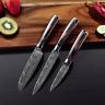 Damascus Kitchen Knives Laser Dapattern Japanese Chef Knife Set of 3 Knives