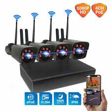Kit videosorveglianza wifi wireless 4 nere telecamere FHD 2 MPX controllo remoto