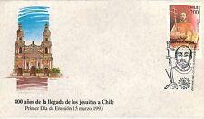 Chile 1993 FDC 400 años de la llegada de los Jesuitas a Chile