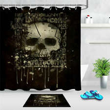 Skeleton Rack Waterproof Bathroom Polyester Shower Curtain Liner Water Resistant