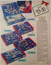 1994 Vintage Paper Print Ad Meccano construction kits Lego Duplo Mega Bloks toys
