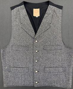 WAH MAKER Men's Tweed Western Vest Medium