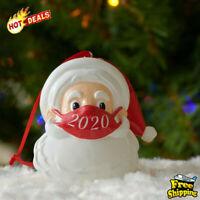 Santa Claus With Mask Christmas Tree Decoration Ornaments 2020 Quarantine bo