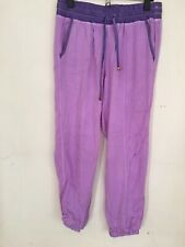 Betsy Johnson Performance Lavender Joggers sz S Drawstring Waist Zip Back Pocket