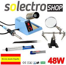 Estación de soldadura analógica 48 W + Accesorios Lupa Pinzas Desoldador Estaño