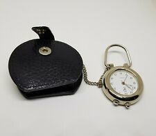 with Chain & Faux Leather Case Beautiful Modern Nurses Quartz Pocket Watch