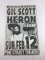 Gil Scott - Heron & Band Concert Poster at Pine Street Theatre Portland OR